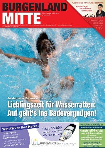 Lieblingszeit für Wasserratten: auf geht's ins ... - Burgenland Mitte