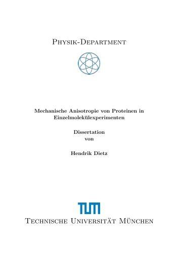 Mechanische Anisotropie von Proteinen in ...