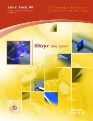 Obtryx• Sling System - Boston Scientific