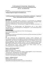 Schulpsychologischer Support für Schulleiter ... - Schulpsychologie