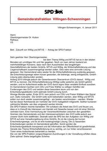 11 01 04 SPD-Antrag Ämterneuordnung - Die SPD in Villingen ...