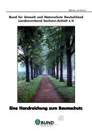 Eine Handreichung zum Baumschutz - BUND Sachsen-Anhalt