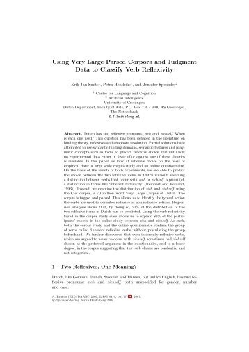 Using Very Large Parsed Corpora and Judgment Data to Classify ...