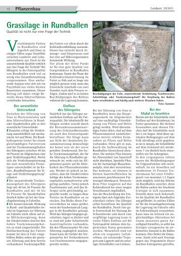 2013-29_Grassilage in Rundballen.pdf - Dr. Neinhaus Verlag AG
