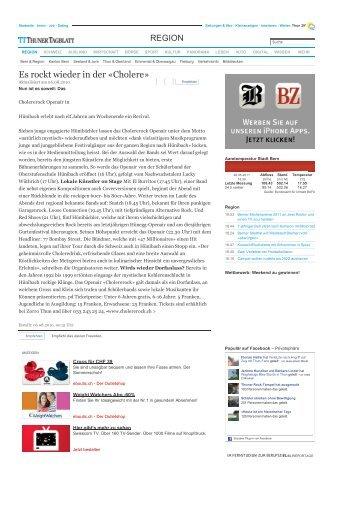 Es rockt wieder in der «Cholere - WordPress – www.wordpress.com