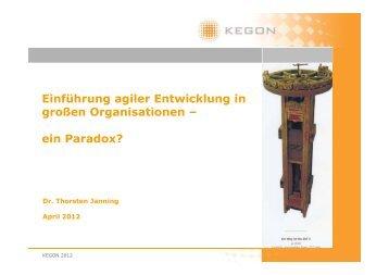 Die agile Entwicklung in großen Organisationen SAP - Scrum Day
