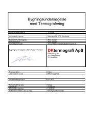 Se eksempel på rapport - Termografi