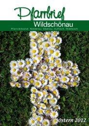 Pfarrbrief Ostern 2012 - Pfarrverband Wildschönau