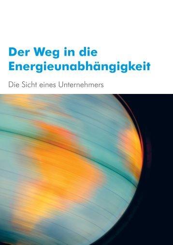 Der Weg in die Energieunabhängigkeit - Wenger