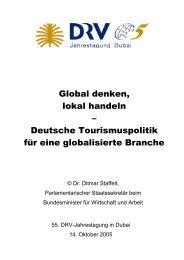 Global denken, lokal handeln – Deutsche Tourismuspolitik für eine ...