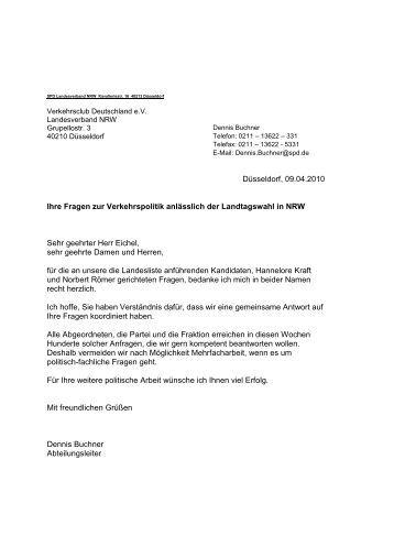 Antwort der SPD - VCD