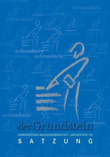 """Satzung - """"Grundstein"""" eG."""