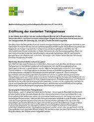 Medienmitteilung vom 18. Juni 2013 - Landschaftspark Binntal