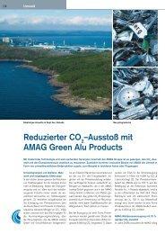 Ausstoß mit AMAG Green Alu Products - Austria Metall AG