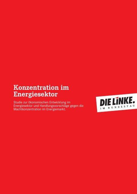 Konzentration im Energiesektor - Bund