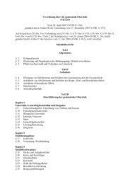 Verordnung über die gymnasiale Oberstufe vom 18. April 2007 ...