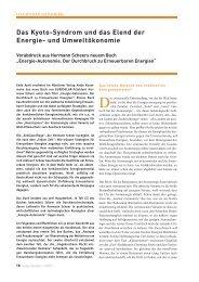 Das Kyoto-Syndrom und das Elend der Energie ... - Hermann Scheer
