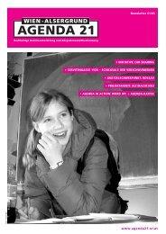 agenda newsletter.pdf - Lokale Agenda 21 in Wien/Alsergrund