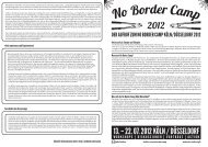 Aufruf deutsch – A3 - No Border Camp 2012 Köln/Düsseldorf!