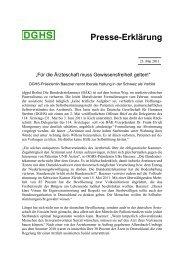 Presse-Erklärung - Deutsche Gesellschaft für Humanes Sterben