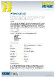PP MAKROFASER - Betontechnik GmbH