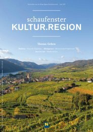 Kultur.region - Museumsmanagement Niederösterreich