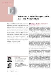 E-Business – Anforderungen an die Aus- und Weiterbildung - BiBB