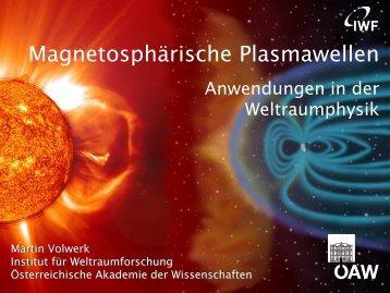 Anwendungen in der Weltraumphysik (2013)