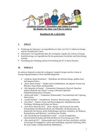 Handbuch für Lehrkräfte - Europa