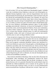 Wer braucht Homöopathie? - Kai Kröger Verlag