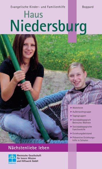 Broschüre Jugendhilfeeinrichtung Niedersburg - Die Rheinische ...