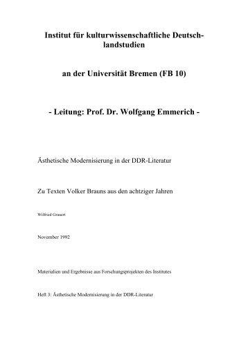 herunterladen - Universität Bremen