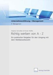 Richtig werben von A - Z - Verlag Dashöfer