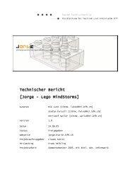 Technischer Bericht [Jorge - Lego MindStorms] - Netstyle.ch GmbH
