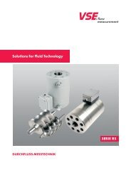 Solutions for Fluid Technology Serie rS