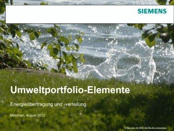 Produkte und Lösungen der Kategorie - Siemens