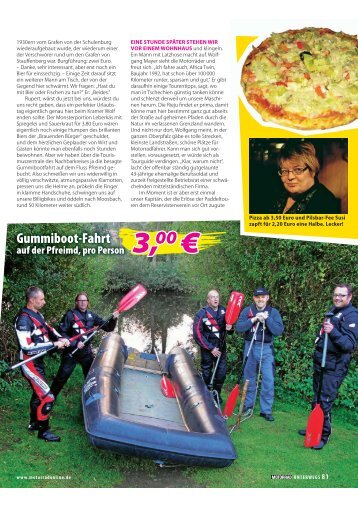 Gummiboot-Fahrt - GS-Forum.eu