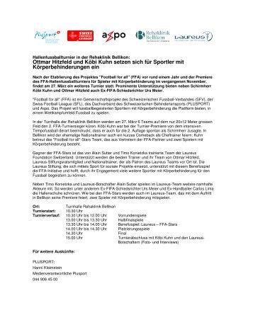 Medienbericht herunterladen (pdf, 462KB). - PLUSPORT ...