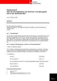 Gebührentarif über die Grundgebühren der Kehricht- und ... - Biel