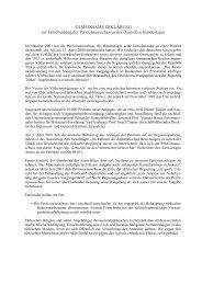 Gemeinsame Erklärung zur Entscheidung des Petitionsausschusses ...