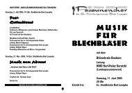 Konzert 11.06.05 - Posaunenchor Bad Laasphe