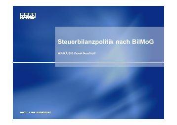 Steuerbilanzpolitik nach BilMoG - ConPract