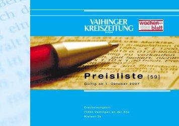 Preisliste VKZ 2006 Druck korr - Vaihinger Kreiszeitung
