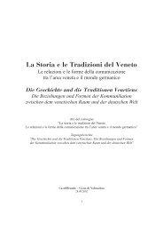 La Storia e le Tradizioni del Veneto - CastelBrando