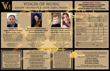Brochure - Voices of Music
