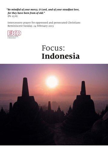 Focus: Indonesia - Evangelische Kirche in Deutschland