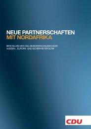 Neue Partnerschaft in Nordafrika - CDU Deutschlands