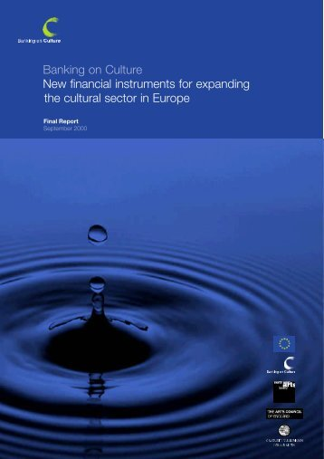Banking on Culture New financial instruments for ... - INAISE