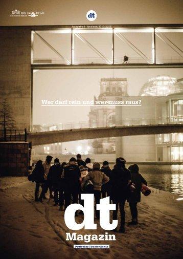 DT Magazin | Ausgabe 3 - Spielzeit 2012/13 - Deutsches Theater