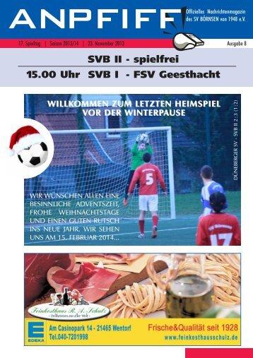 Anpfiff - Ausgabe 8 - 17. Spieltag